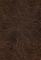 VELVET - Sparkle maxi dress - black & copper