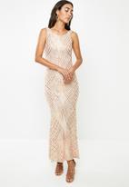 VELVET - Sequin maxi dress - sand