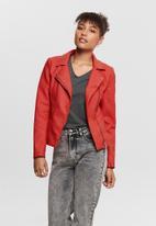 ONLY - Melanie biker jacket - red