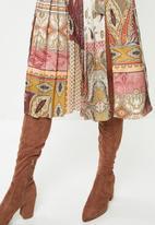 VELVET - Pleated midi dress - multi