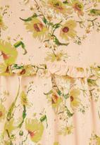 VELVET - Floral midi dress - peach