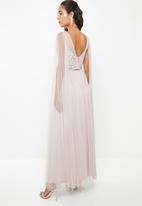 VELVET - Cape sleeve maxi dress - moonbeam