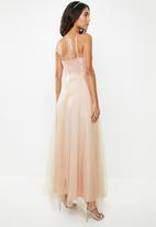 VELVET - Lace cami maxi dress - dusty pink
