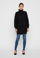 Vero Moda - Glendora siska long sleeve high neck blouse - black