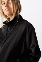 Cotton On - Cropped summer anorak - black