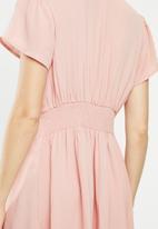 Cotton On - Woven Marisa gathered front mini dress - misty rose