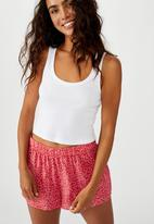 Cotton On - Sleep time boxer short - red