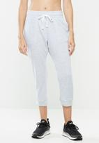 Cotton On - Cropped gym track pants - cloud grey marle
