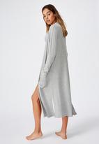 Cotton On - Supersoft rib cardigan - grey