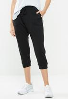 Cotton On - Cropped gym track pants - black