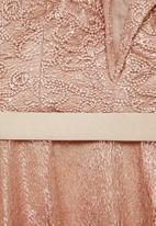MILLA - Bardot lace maxi - neutral