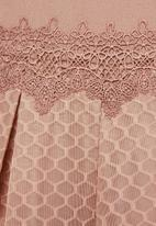 MILLA - Airtech bardot dress - pink rose