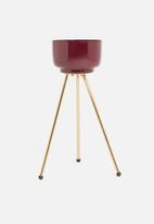 H&S - Flower pot stand small - burgundy