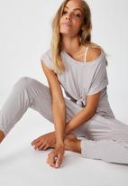 Cotton On - Sleep recovery drop crotch pant - pale lilac