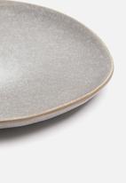 Excellent Housewares - Stoneware plate - dark grey