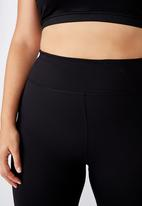 Cotton On - Curve active core capri tight - black