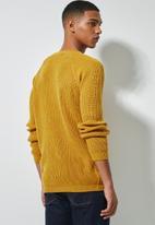 Superbalist - Textured raglan knit - yellow