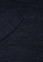 Superbalist - Textured raglan knit - navy