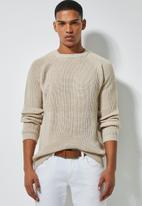 Superbalist - Textured raglan knit - beige