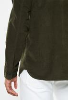 Selected Homme - Craig regular fit cord shirt - khaki