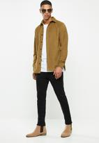 Selected Homme - Craig regular fit cord shirt - brown
