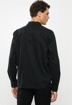 Only & Sons - Gavin long sleeve twill workwear overshirt - black