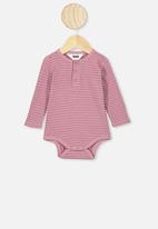 Cotton On - Long sleeve button bubbysuit - purple