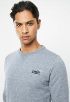 Superdry. - Orange label crew sweater - blue