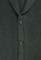 Superbalist - Chunky shawl collar textured cardi - green