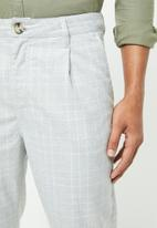 Cotton On - Oxford trouser - light grey & white check