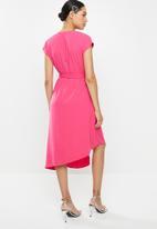 Glamorous - Kimono wrap dress - hot pink