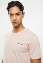Cotton On - N.Y original text T-shirt - dirty pink
