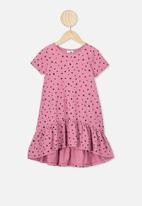 Cotton On - Joss short sleeve dress - pink & black