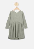 Cotton On - Freya long sleeve dress - silver sage