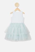Cotton On - Iris tulle dress - light ether