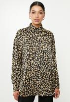 Missguided - Animal print satin shirt - multi