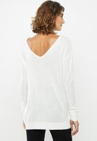 edit - V-back jersey - cream