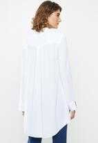 edit - Long Line viscose tunic - white