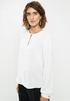 edit - Tunic with front keyhole - milk