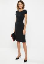 edit - Side knot mdi dress - black