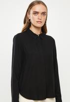 Jacqueline de Yong - Opal long sleeve shirt - black