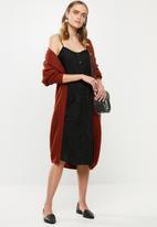 Jacqueline de Yong - Kitti short sleeve midi dress - black