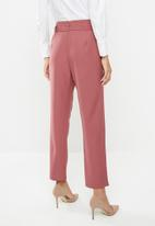edit - Belted paperbag pants - dusty pink