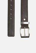 Pringle of Scotland - Oriano leather belt - brown