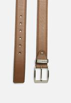 Pringle of Scotland - Oriano leather belt - tan