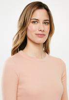 Cotton On - The turn back long sleeve top - peach
