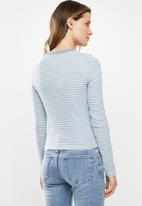 Cotton On - The turn back long sleeve top Taylor stripe - multi