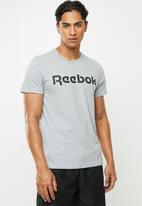 Reebok - Linear short sleeve tee - grey