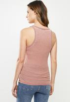 Cotton On - The long line henley tank - pink