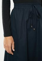 edit - Full skirt with elasticated band - navy
